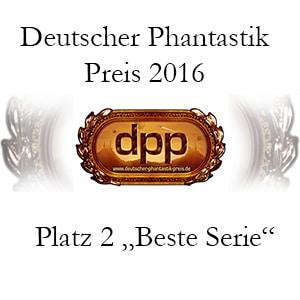 """Platz 2 in """"Beste Serie"""" beim Deutschen Phantastik Preis 2016 für Heliosphere 2265 von Andreas Suchanek - www.dieschreibwg.de"""